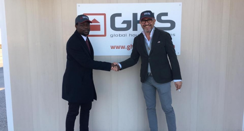Ali Serge Daniel mit owner Harald Rath at GHS Global Housing Solutions.